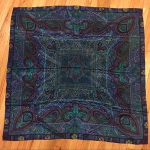 """Accessories - 💙Gorgeous 100% silk scarf. 36"""" square. Like new!"""